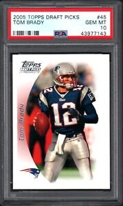 2005 Topps Draft Picks #45 TOM BRADY New England Patriots PSA 10 GEM MINT
