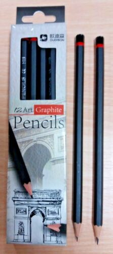 BOX OF 48 NEW 2B GOOD QUALITY ART GRAPHITE PENCILS DRAWING STUDENT SKETCHING