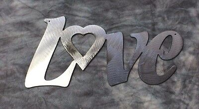 Decorative LOVE Silver Metal Wall Art Decor
