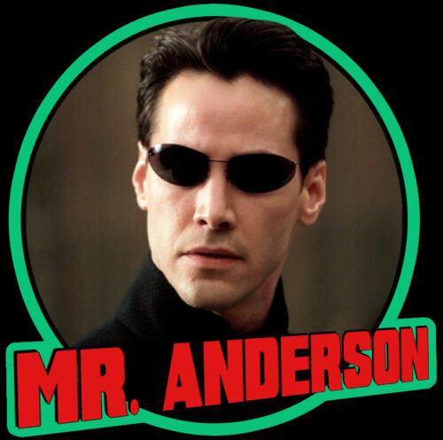 "90/'s Keanu Reeves Classic The Matrix /""Mr Anderson/"" custom tee AnySize AnyColor"