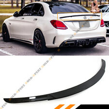 FOR 15-18 MERCEDES BENZ W205 C63 AMG S B STYLE CARBON FIBER TRUNK SPOILER WING