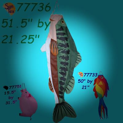 "Anglerfish Bones Swimming Fish Windsock By Premier 16.5/"""