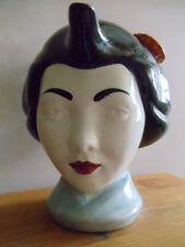SWINESIDE LARGE GEISHA GIRL's HEAD TEAPOT 1986