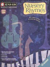 Jazz Play-Along Nursery Rhymes Clarinet Sax Saxophone Flute BRASS Music Book