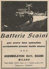 Z2209 Batterie per auto Dott. SCAINI - Pubblicità d'epoca - Advertising