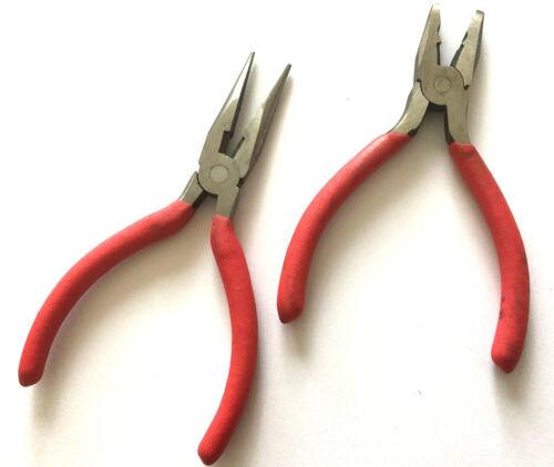 Concave convexo ojales alicates alrededor de pinza joyas alicates tenazas miniblings 12cm rojo