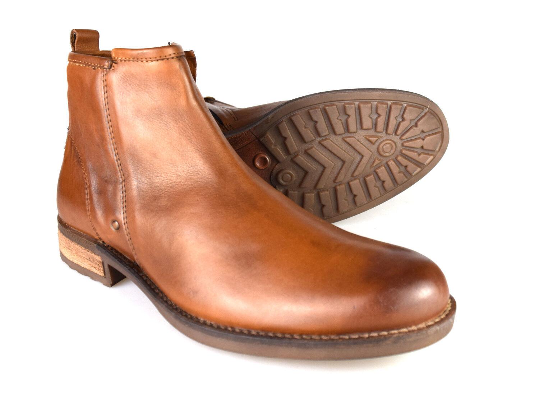 Silber Street Dover hellbraunes Leder formelle Herren Brogue Stiefel