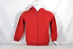 Youth-Boy-039-s-Nautica-Color-Block-Fleece-Lined-Jacket-Red
