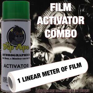 BIO DEATH SKULLS DIP APE ACTIVATOR FILM COMBO HYDROGRAPHIC WATER TRANSFER