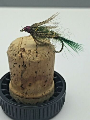 Fly Fishing PRIME collection DEMOISELLE OLIVE NYMPH X8 flies size 10