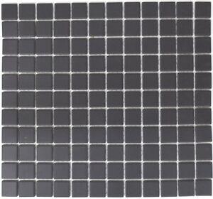 Détails sur Mosaïque carrelage céramique noir non vitré cuisine  18B-0311-R10_f | 10 plaques