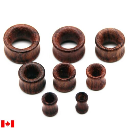 Pair natural rose wood Ear Plugs Tunnels  Gauges tunnel Expander personality