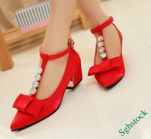 Heelsbuckle Correa casuales Hot del de las tobillo moda Bloque Nueva Rhinestones mujeres zapatos ZzqaH1w