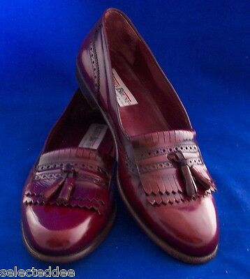 MARIO BRUNI Size 11.5 Italian Leather Tassel Loafer Shoes Cushion System