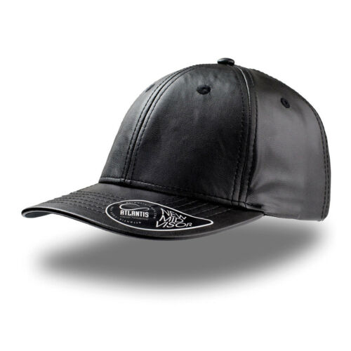 Cappellino Rapper Eco Pelle Uomo Con Visiera Pre Curvata ATLANTIS Lewis