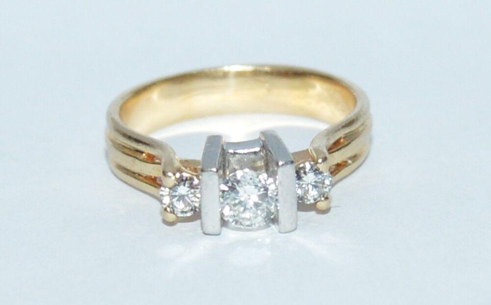0.50 TCW H Si1 Diamond  Ring 14K Yellow gold ring Size 7