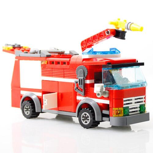 Stadt Feuerwehrauto Sprinkler Auto Modell Spielzeug Baukästen Modeller Spielzeug