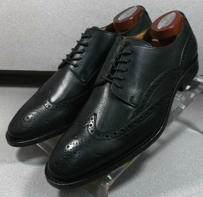 240621 ESi60 Chaussures Hommes Taille 11.5 m noir en cuir MADE IN ITALY Johnston Murphy
