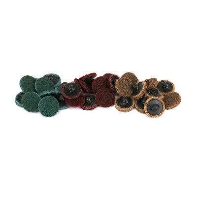 10pcs 2 Inch Roloc Disc 24-320 Grit R Type Sanding Abrasive Roll Lock Coarse Top