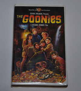 The Goonies Vhs Movie Signed By Richard Donner Autographed Ebay
