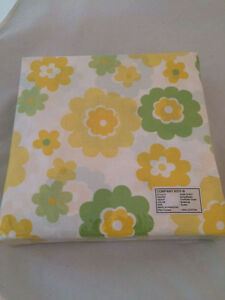 Yellow-Flower-Queen-Duvet-Comforter-Cover-Cotton-Company-Store-Floral-Green