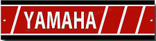 YAMAHA METAL GARAGE SIGN.VINTAGE YAMAHA MOTORCYCLES,YAMAHA WORK SHOP SIGN.RED