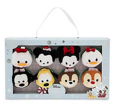 Disney Tsum Tsum Christmas Mickey Minnie Donald Daisy Pluto Goofy Chip Dale Set