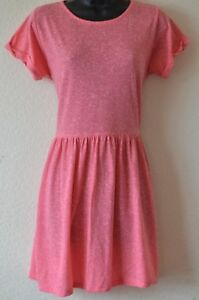 Internacionale-UK-Size-12-Ladies-Pretty-Pink-Short-Sleeve-Drop-Waist-Dress