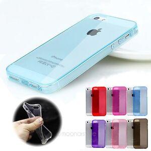 TRANSPARENTE-Coloreados-Suave-Fino-Sintetico-Funda-de-silicona-para-Iphone-5