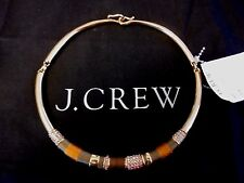 J CREW JEWELED BRASS COLLAR NECKLACE NWT SOLD OUT