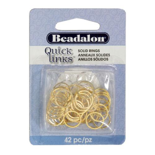 Beadalon ® ™ enlaces rápidos hallazgos forma redonda 12mm Color Oro 42 piezas