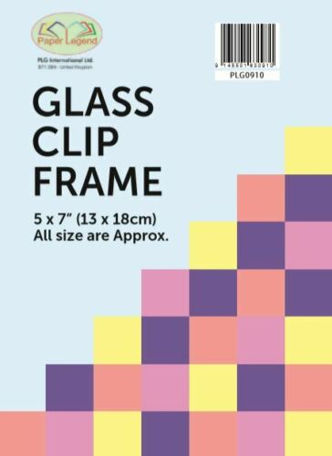 "Frameless Photo Frame 6 X Glass Clip Frame 5/""x7/"" 13x18cm"