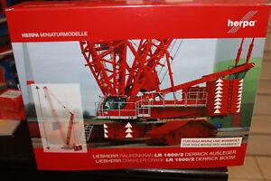 Herpa-076753-Derrick-Console-pour-Liebherr-LR-1600-2-rouge-Riga-Mayence-Mammoet