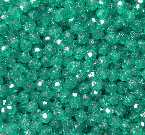 JOLLY STORE Crafts Christmas Glitter Mix 11mm Tri Beads 500pc Made in USA
