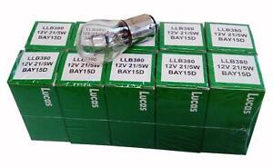 Lucas-LLB380-380-Bay15d-12v-21-5W-freno-deja-cola-de-SBC-Bombillas-X-10