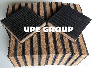 Details about 24 pck Anti Vibration isolation pad rubber/cork 4x4x7/8  COMPRESSOR SPEAKER FLOOR