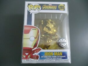 Funko Pop Gold Chrome Iron Man Australian Con Exclusive (dans la main)