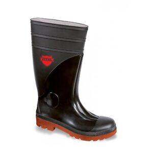 89bc978566b Details about VITAL Sitemaster VW251XL Black PVC Safety Wellington Boots  Wellies Steel Toe Cap