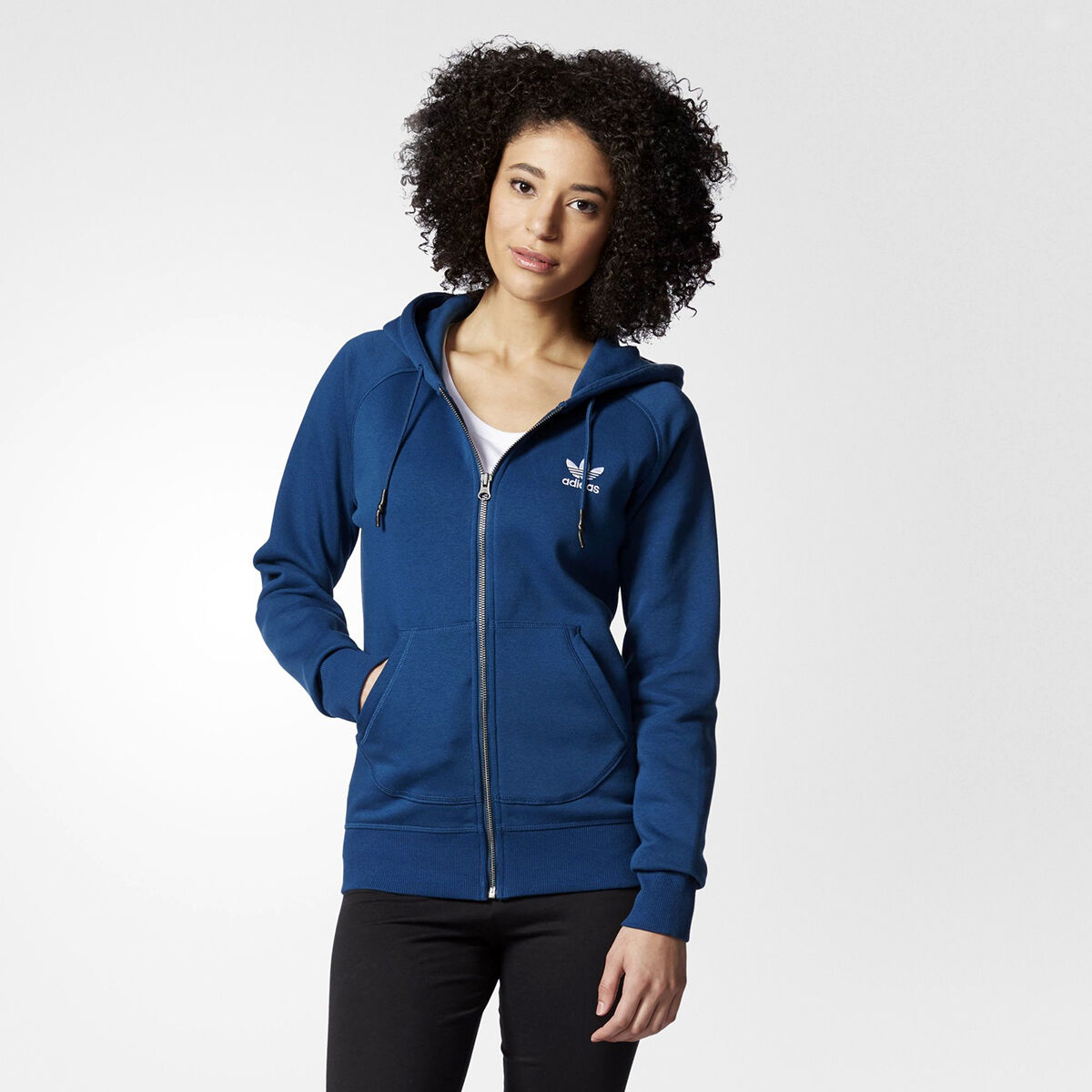 cf3117ac3 Originals Adidas Full WMNS white bluee dark AY6615 women NEW Hoody ...