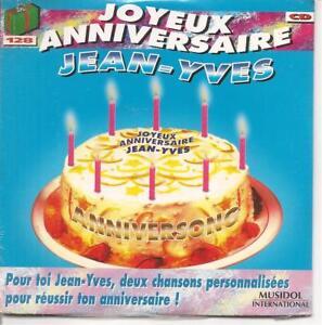 Détails Sur Cd Single 4 Titres Joyeux Anniversaire Jean Yves Neuf