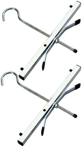 Youngman Universal Car Van Roof Rack Locking Ladder Clamp Kit Secures 3 Ladders