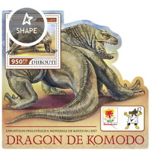 Briefmarken Ausdrucksvoll Z08 Imperf Djb17225b Djibouti 2017 Komodo Dragon Mnh ** Postfrisch Dschibuti