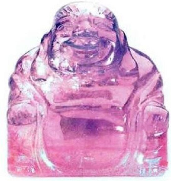 Amethyst Crystal Healing Gemstone Buddha 50mm x 50mm Gift Reiki Powerful Purple