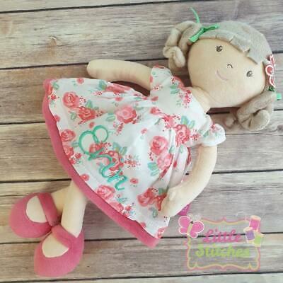 Bambola Personalizzata, Morbida Bambola Di Pezza Ricamato Con Nome 1st Compleanno Ricordo-mostra Il Titolo Originale Garanzia Al 100%