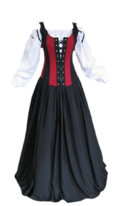 halloween costume medieval dress renaissance wench corset