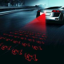 Car Red LED Laser Fog Light Anticollision Taillight Rear Brake Warning Lamp Fish