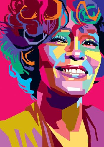 Art Print POSTER Canvas Whitney Houston