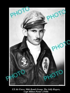 OLD-LARGE-HISTORICAL-PHOTO-OF-US-AIR-FORCE-90th-BOMB-GROUP-CAPT-M-PORTER-c1940