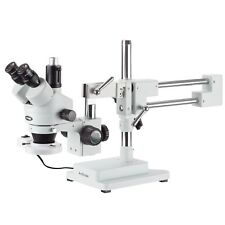 Amscope 35x 45x Trinocular Stereo Boom Zoom Microscope Fluorescent Light