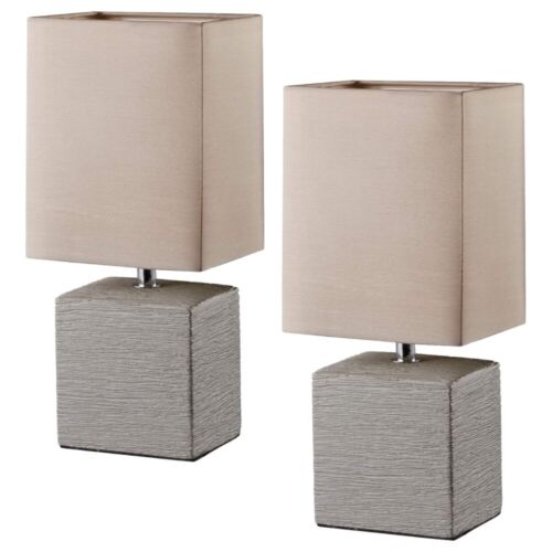 2er R50131026 braun Tischleuchte Nachttischleuchte Stehleuchte Lampe E14 40 W